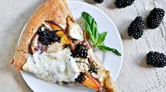 "Summer Pizza  ""Grilled Chicken, Peach, Blackberry + Basil Pizza by howsweeteats: Summer pizza! #Pizza #Chicken #Summer"" - Florence Milin"