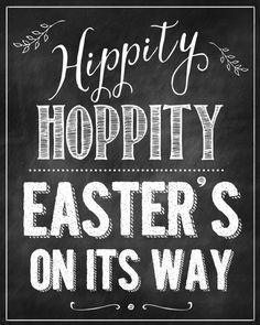 Free Easter Chalkboard Printable