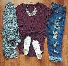 Imagen de fashion, outfit, and converse