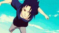 anime - naruto classic - uchiha sasuke - chidori - gif
