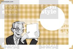 Greeting card with businessman showing product – personalize your card with a custom text