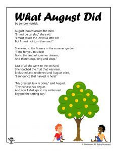 August Poems for Kids