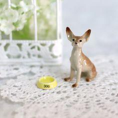 Set of 2 Pcs. / Figurine Dog  Miniature by LittleHomeCrafty
