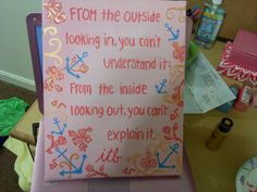 putting this amazing quote on a canvas with our Lilly print sounds like a fabulous idea.