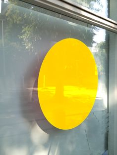 Detail of 'Two Yellow Circles with Rietveld Schröder composition' (Centraal Museum Utrecht in collaboration with Rietveld Schröder and Stalingrad HW)