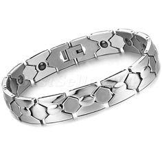 Magnet Edelstahl Armband Magnetarmband Armreif Armkette Silber Geschenk