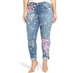 fe1214c4278 Plus Size Women s Melissa Mccarthy Seven7  Splatter Blossom  Print... (7