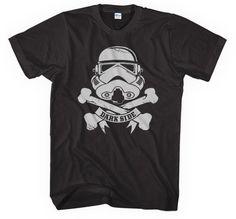 Drak side Black Star Wars T-shirt in S, M, L, XL