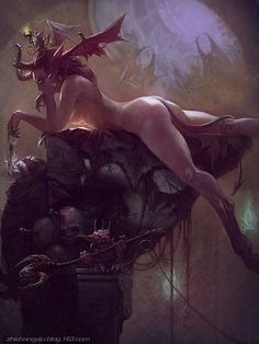 succubus, Bayard Wu on ArtStation at http://www.artstation.com/artwork/succubus-9c9366c5-ec3e-4b6b-9e72-1bd930c39ce4
