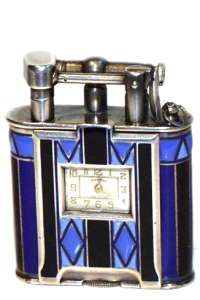 Dunhill Sterling & Enamel Watch Lighter ca 1926