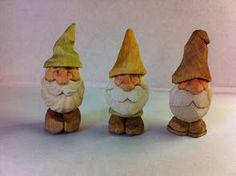 Photo: My little gnomes are based on the 5 minute Wizards carved by Tom Hines. I added feet and a few details to make a simple little carving I could do as a demo at shows. They've been a popular and fun design for people to carve and I've had a few requests to post a tutorial on carving them, So here it is!