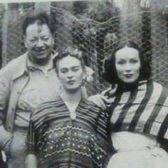 Diego Rivera Frida Kahlo y Dolores del Río