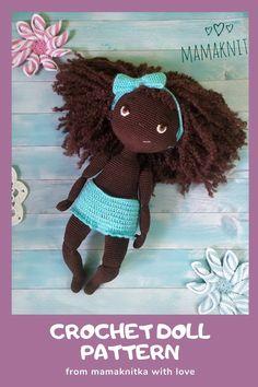 Crochet Doll Tutorial, Crochet Doll Pattern, Crochet Patterns Amigurumi, Amigurumi Doll, Crochet Dolls, Amigurumi Tutorial, Crochet Eyes, Diy Crochet And Knitting, Handmade Soft Toys