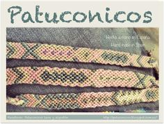 Pulseras Patuconicos Friendship bracelets Hechas a mano en España con nudos de macramé.  modelo espiga con 5 colores precio adulto Precio 5€ la unidad, (gastos de envio no incluidos).