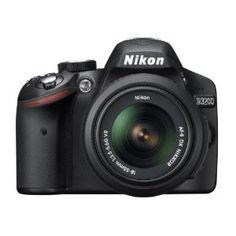 #5: Nikon D3200 24.2 MP CMOS Digital SLR with 18-55mm f/3.5-5.6 AF-S DX VR NIKKOR Zoom Lens (Black)