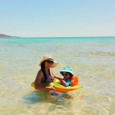 Jane Mother and Baby floater, keeping baby safe at the beach or the swimming pool.