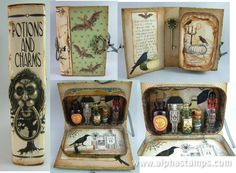 www.AlphaStamps.com Gallery - Apothecary in a Altoids Tin Book by @Laura Carson