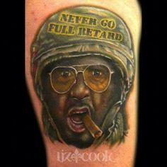 Liz Cook portrait tattoo from the movie ''Tropic Thunder'