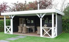Pool house or outdoor seating for alfresco dining Patio Bar, Patio Roof, Pergola Patio, Backyard Patio, Backyard Landscaping, Pergola Kits, Cheap Pergola, Outdoor Seating, Outdoor Rooms