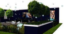 Show garden proposal for BLOOM Garden Festival, 2011, Dublin, 'Bubble Party', garden designer Agata Byrne