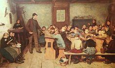 """""""Bisognerebbe andare a scuola di povertà per contenere il disastro che la ricchezza sta producendo."""" (Ermanno Olmi) Dipinto di: Albert Samuel Anker. (La scuola)"""