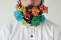 Beard and Picks Married photographers Stacy and Pierce Thiot of Red Poppy Photography have begun experimenting with how many objects can fit into Pierce's Crazy Beard, Poppy Photography, Umbrella Photography, Photography Ideas, Moda Hipster, Cocktail Umbrellas, Sweet Station, Paper Umbrellas, Great Beards