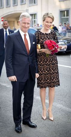 King Philippe and Queen Mathilde of Belgium attend pre-National Day concert July 20, 2014