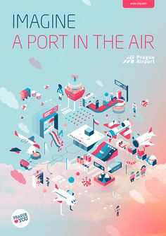 PRG ✈ AIRPORT PRINTS by AARGH, via Behance