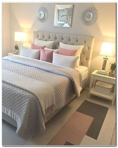 Schlafzimmer Ideen Teenager 41 awesome pink and gold girls bedroom decor makeover for a budget # Best Bedroom Colors, Bedroom Themes, Colors For Bedrooms, Teen Room Colors, Modern Bedroom, Contemporary Bedroom, Diy Bedroom, Bedroom Simple, Bedroom Furniture