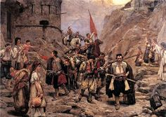 Paja Jovanovic - Return of the Squad of Montenegrins from the Battle, 1888.