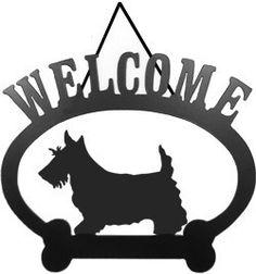 Sweeney Ridge Scottish Terrier Welcome Sign   PupLife Dog Supplies