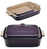 Purple Le Creuset Stoneware Dishes, Rectangular - $50.00 at The Purple Store