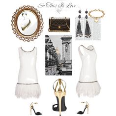 """Vintage White"" by morganhina on Polyvore"