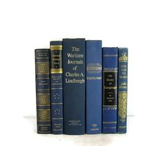 Vintage collection decorative   Blue Books  by DecadesOfVintage
