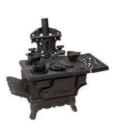 Cast Iron Mini Wood Stove Set