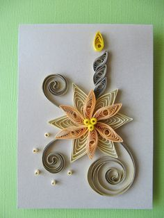 Set of 3 Christmas Quilling Cards Paper Quilling by RudiBelArt