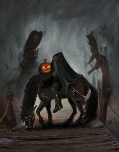 Martin Jamison: Welcome to Sleepy Hollow Sleepy Hollow Halloween, Halloween Magic, Creepy Halloween, Halloween Horror, Vintage Halloween, Happy Halloween, Halloween Stuff, Halloween Ideas, Halloween Art Projects