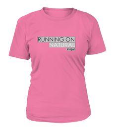 Running On Natural Ladies Vegan T-Shirt