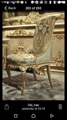 Beautiful Floral Antique Chair