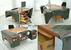 Cool recycle working desk.<3