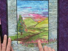 Create something truly unique! Trish Stuart's tutorial will show you how to use ink, pens, and watercolor techniques to create paint landscapes on your next art quilt.