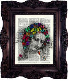 La Scapigliata, da Vinci, dictionary art