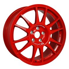 SanremoCorse 18'' Red is the successful range of wheels realized for being used on tarmac. #WHEELS #MADEINITALY #EVOCORSE #TARMACRALLY #RALLY #RED #SANREMOCORSE