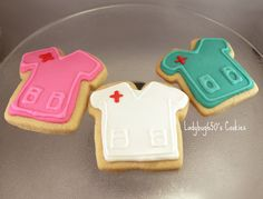 Scrub top cookies handmade & iced  One dozen by ladybug650 on Etsy, $25.00