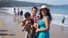 O nosso primeiro dia de verão...direto pra praia!!!