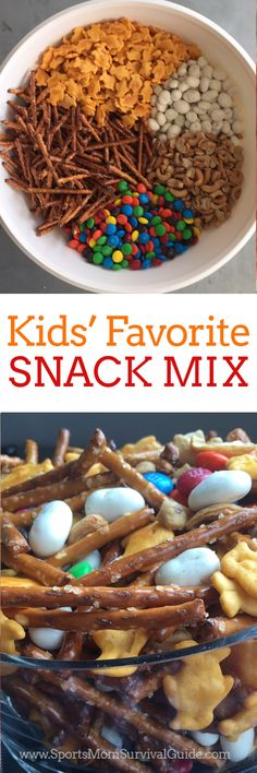 PopCorn Mix from The BakerMama We are always on the go and this Kid's Favorite Snack Mix is so easy and fast to mix together and keep on hand for school lunches, snack and to grab-and-go!We are always on the go and this Kid's Favorite Snack Mix is so easy Popcorn Mix, Popcorn Snacks, Summer Snacks, Lunch Snacks, Camping Snacks, Diy Snacks, Kid Lunches, Kids Party Snacks, Camping Cabins