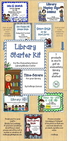 Are you starting out in a new library? Or maybe you want to 'redecorate' an old library? This STARTER KIT can get you up and running with cheerful and child friendly TIME SAVERS.  $