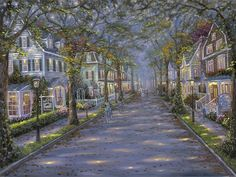 'Hughes Street, Cape May, New Jersey' | Artist: Robert Finale | Strolling in Cape May III