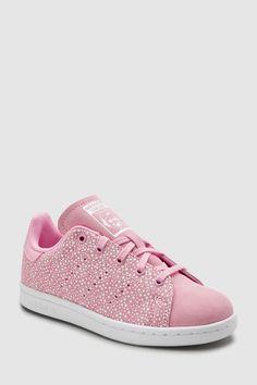 on sale 638c9 16853 Girls adidas Originals Pink Spot Stan Smith Junior - Pink