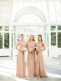 Neutral Bridesmaid Trend That Takes Romance To An Entirely New Level. Photography: You Look Lovely Photography Venue: Brooklyn Botanic Garden Event Production: Patina Events at Brooklyn Botanic Garden #sponsored